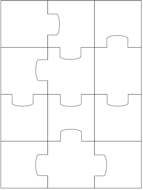 puzzle template free craft projects magnetic puzzle greeting