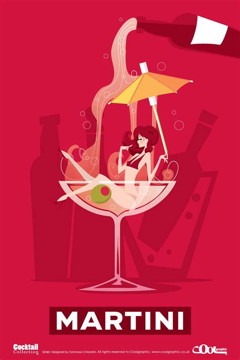 retro martini retro graphics martini from the cocktails collection