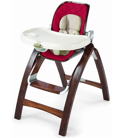 summer infant bentwood high chair cranberry