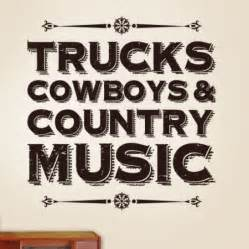 Country music wall decal quotes