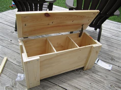 Outdoor Storage Bench Seat Diy Outdoor Bench With Storage Cushion And Back