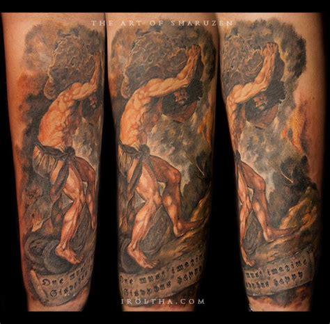 sisyphus tattoo sisyphus titian s ideas