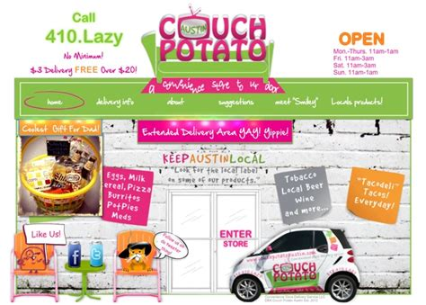 couch potato delivery we love couch potato austin s convenience store to your