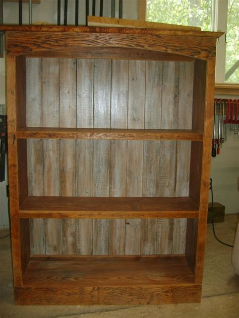 hand  reclaimed wood bookcase  norms custom