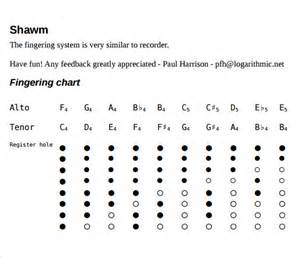 sample recorder finger chart 7 free documents in pdf