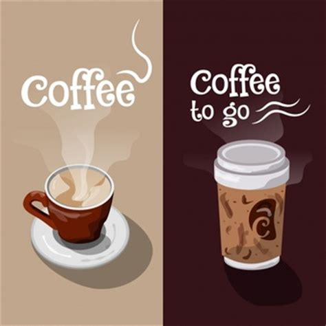 design banner coffee shop coffee cup made of coffee icons vector free download