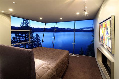 lake house bedroom bedroom lake house lake tahoe by mark dziewulski architect