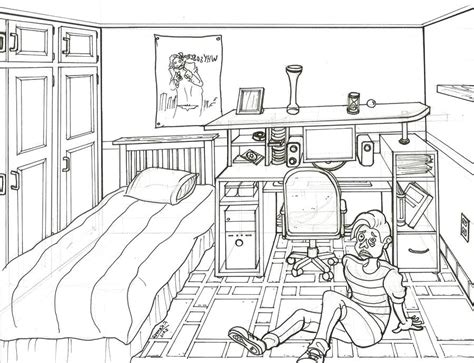 1 point perspective room tutorial 1 point perspective drawing of a bedroom www indiepedia org