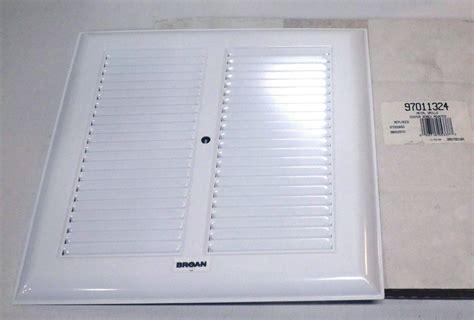 Broan Bathroom Fan Cover - broan bath bathroom ceiling fan grille grill cover metal