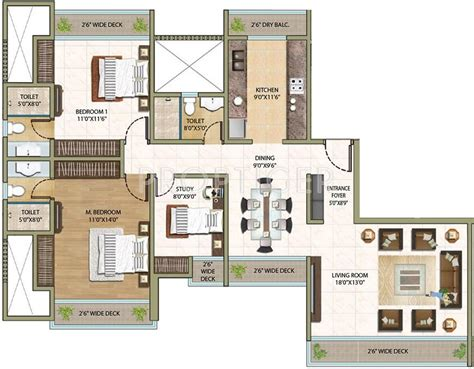Avalon Floor Plan by Sheth Avalon In Thane West Mumbai Price Location Map