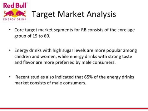 target market analysis template redbull energy drink