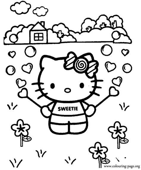 bubble kitty coloring page hello kitty hello kitty playing with a bubble blower