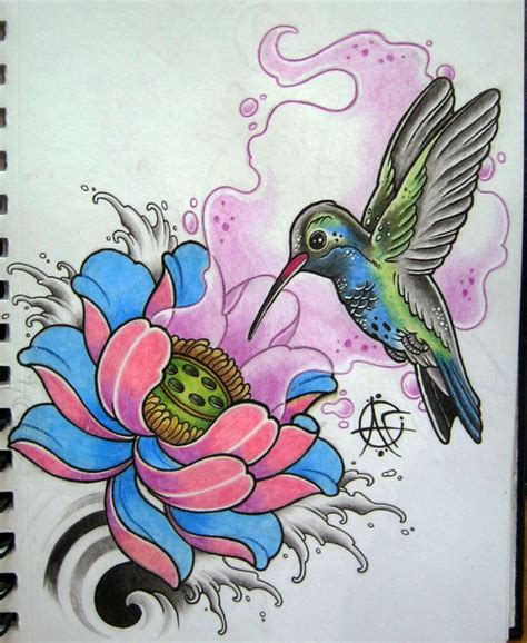 hummingbird tattoo design by frosttattoo on deviantart