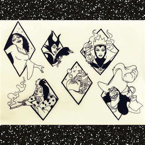 tattoo cartoon sketch disney villains ink holes pinterest disney