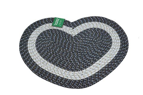 shaped braided rugs emerald wholesale shaped braided rug 20 quot x 30 quot black