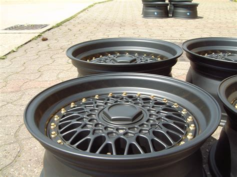 new 15 quot rs alloys in matt black with silver rivets