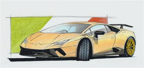 Lamborghini Drawing by Car Drawing Lamborghini Huracan Performante Lamborghini