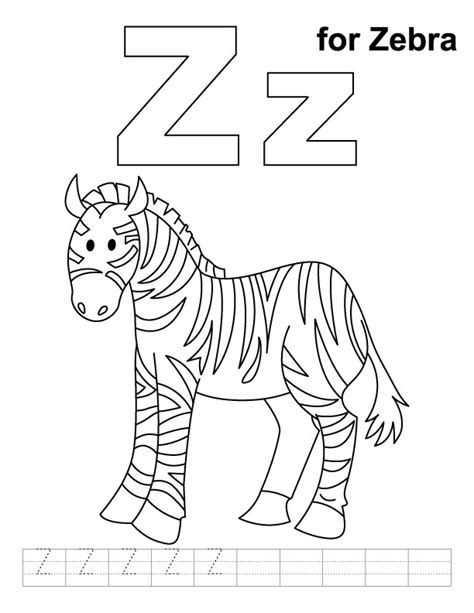 zebra z coloring page free zebra coloring pages az coloring pages