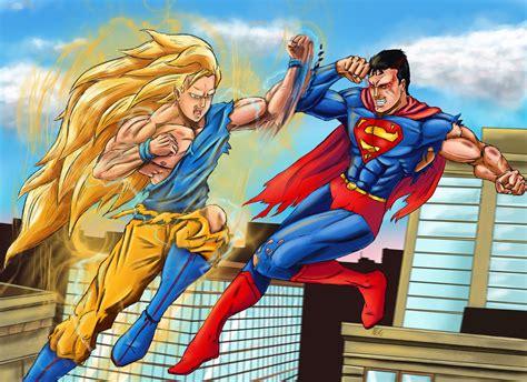 imagenes goku vs superman superman vs goku taringa