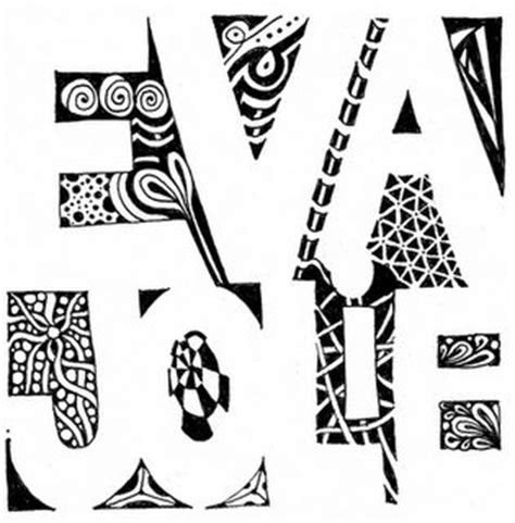 design cover with name negative space names and zentangle on pinterest