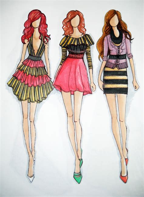 Design Maker Clothes | glamorous fashion sketches and illustrations best 50