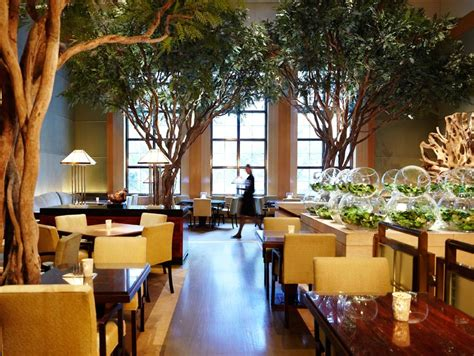 Restaurants With Gardens Nyc by Chef Johnson S The Garden Restaurant At Four Seasons