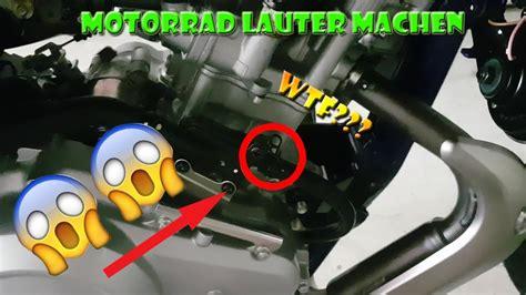 Motorrad Auspuff Lauter by Motorrad Lauter Machen Youtube