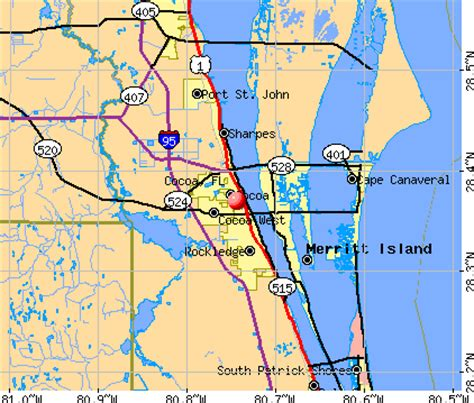 florida map cocoa cocoa florida fl 32922 32926 profile population maps