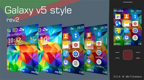 themes nokia galaxy galaxy v5 style rev 2 theme nokia 515 240x320 s406th