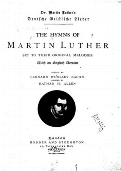 The Hymns of Martin Luther - Online Library of Liberty