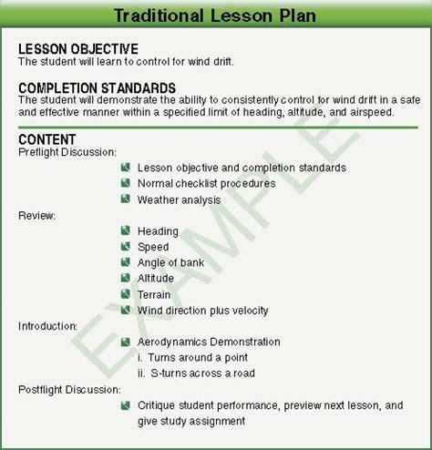 cfi lesson plan template cfi lesson plan template aviation lesson plan template cfi