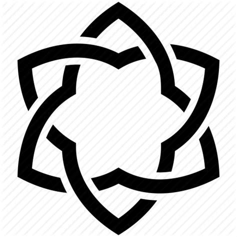 tattoo icon png david flower hexagon lotus tattoo tribal icon icon