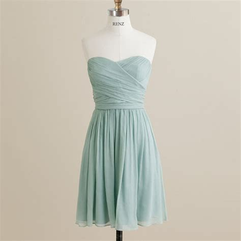 2015 mint bridesmaid dress strapless dusty prom by
