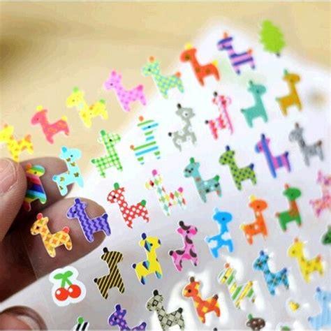 Drawing Market Sticker owl giraffe print memo sticker drawing market diary