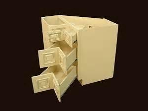 Heritage white rta kitchen cabinets corner drawer base cabinet cdb36