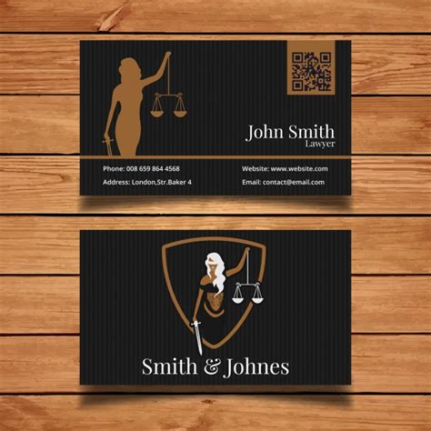lawyer business card templates free lawyer business card vector free