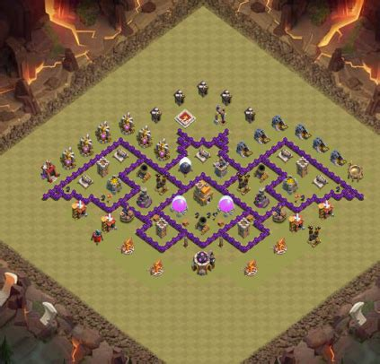 layout morcego cv 7 clash of clans sxx