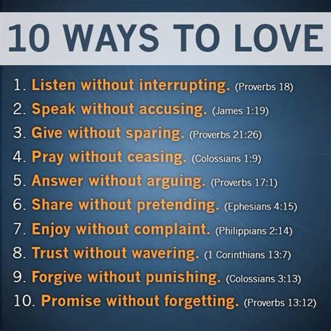 10 ways to love bible 10 biblical ways to love bible only verses