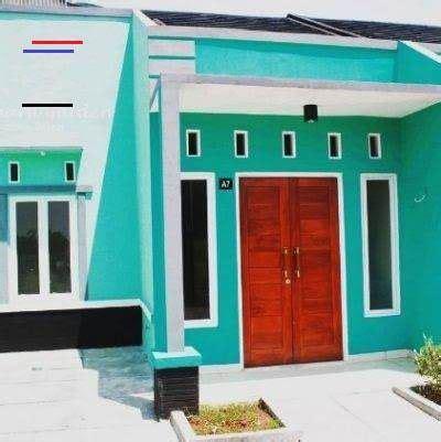 cat rumah warna hijau tosca tampak depan content