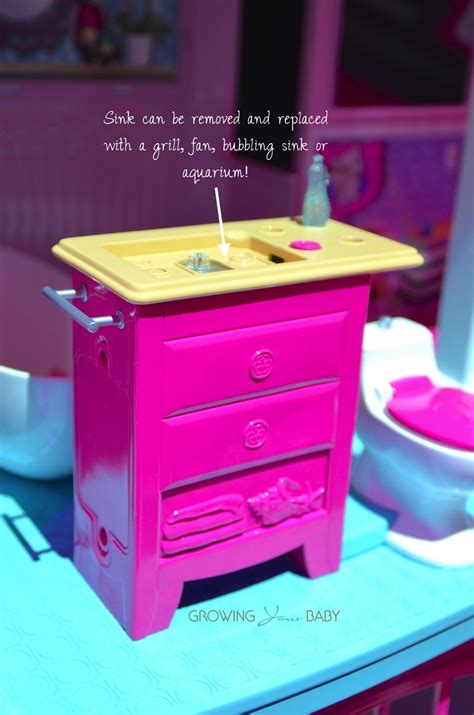 barbie dream house 2015 barbie 2015 dream house bathroom vanity without sink growing your baby growing