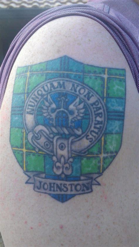 tartan tattoo designs johnston scottish crest and tartan
