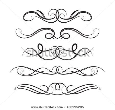 Decoration De Page by Set Page Decoration Line Drawing Design Stock Vector