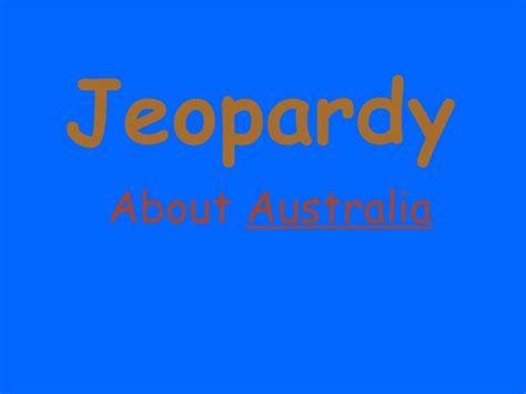 Jeopardy Australia Game Bill Arcuri Jeopardy
