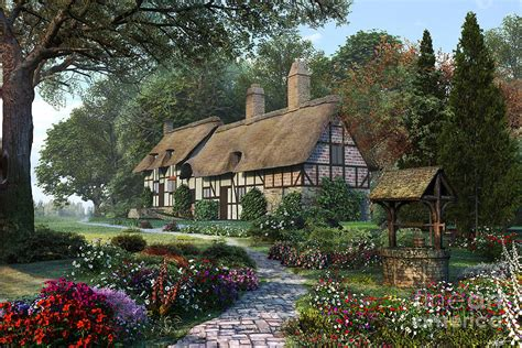 Country Cottage Cross Stitch Image From Http Images Fineartamerica Com Images Medium
