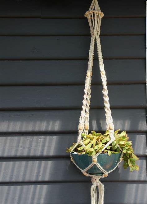 Macrame Techniques - pot suspendu macram 233 pour fleurs et plantes en suspension