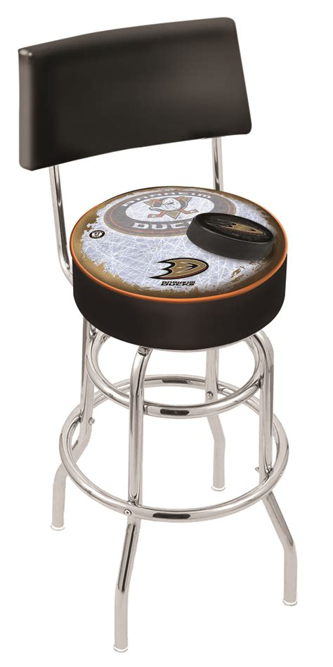 duck swivel stool anaheim ducks counter height bar stool w official nhl