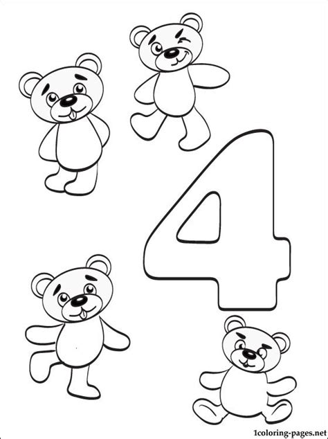 Number 4 Coloring Pages Preschool by Preschool Number 4 Coloring Page Get Coloring Pages