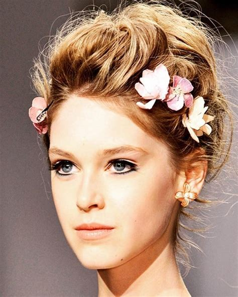 wedding hairstyles updos with flowers 23 hairstyles for weddings hairstyle