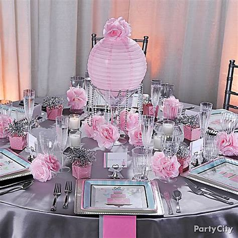 pink and silver table bridal shower decoration ideas pink and silver wedding