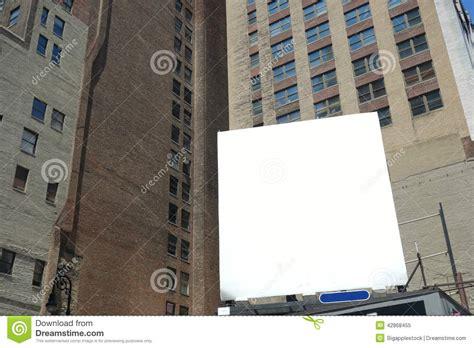 the copy room nyc blank billboard stock photo image 42868455